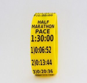 Half Marathon Paceband 1:30 Yellow/Black