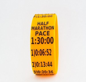 Half Marathon Paceband 1:30 Orange/Black