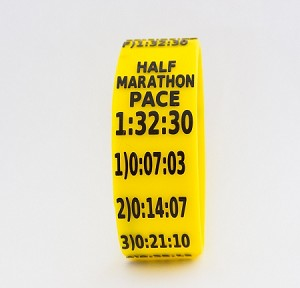 Half Marathon Paceband 1:32:30 Yellow/Black