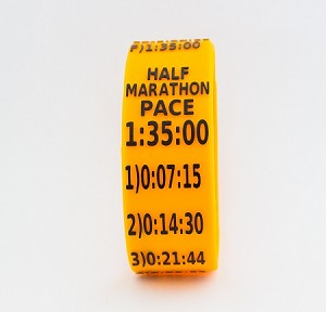 Half Marathon Paceband 1:35 Orange/Black