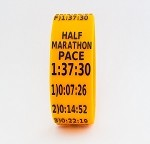 Half Marathon Paceband 1:37:30 Orange/Black