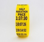 Half Marathon Paceband 1:37:30 Yellow/Black