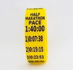 Half Marathon Paceband 1:40 Yellow/Black
