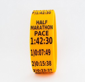 Half Marathon Paceband 1:42:30 Orange/Black