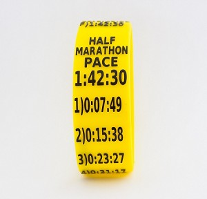 Half Marathon Paceband 1:42:30 Yellow/Black