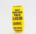 Half Marathon Paceband 1:45 Yellow/Black