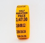 Half Marathon Paceband 1:47:30 Orange/Black