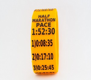 Half Marathon Paceband 1:52:30 Orange/Black