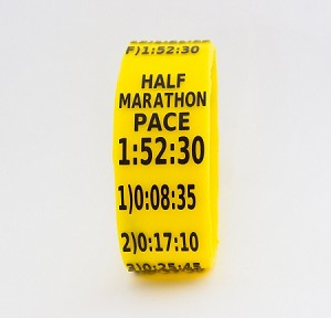 Half Marathon Paceband 1:52:30 Yellow/Black
