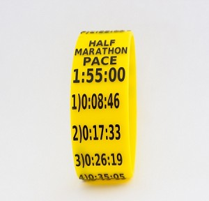 Half Marathon Paceband 1:55 Yellow/Black