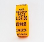 Half Marathon Paceband 1:57:30 Orange/Black