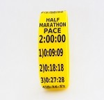 Half Marathon Paceband 2:00 Yellow/Black