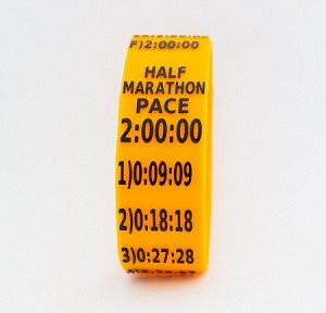 Half Marathon Paceband 2:00 Orange/Black