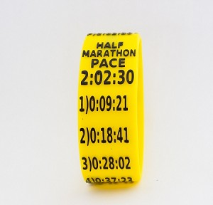 Half Marathon Paceband 2:02:30 Yellow/Black