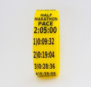 Half Marathon Paceband 2:05 Yellow/Black