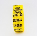 Half Marathon Paceband 2:07:30 Yellow/Black