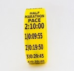 Half Marathon Paceband 2:10 Yellow/Black