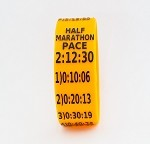 Half Marathon Paceband 2:12:30 Orange/Black