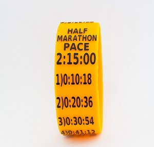 Half Marathon Paceband 2:15 Orange/Black