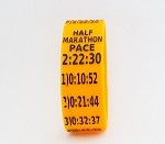 Half Marathon Paceband 2:22:30 Orange/Black