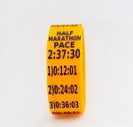 Half Marathon Paceband 2:37:30 Orange/Black