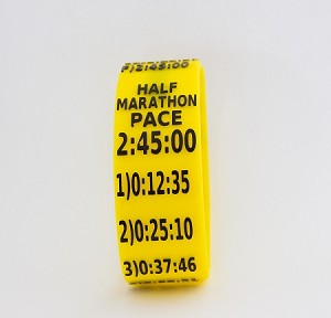 Half Marathon Paceband 2:45 Yellow/Black