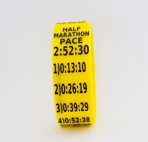 Half Marathon Paceband 2:52:30 Yellow/Black