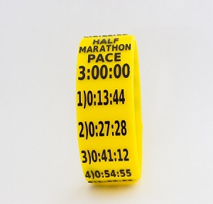 Half Marathon Paceband 3:00 Yellow/Black
