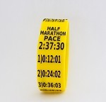 Half Marathon Paceband 2:37:30 Yellow/Black