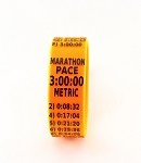 Metric Marathon Paceband 3:00 Orange/Black