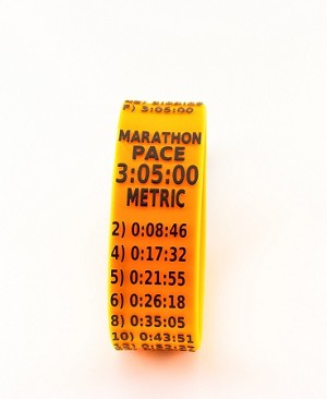 Metric Marathon Paceband 3:05 Orange/Black