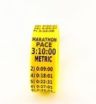 Metric Marathon Paceband 3:10 Yellow/Black