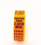 Metric Marathon Paceband 3:10 Orange/Black