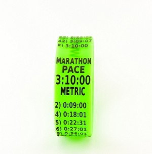 Metric Marathon Paceband 3:10 Green/Black