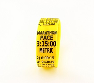 Metric Marathon Paceband 3:15 Yellow/Black