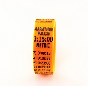 Metric Marathon Paceband 3:15 Orange/Black