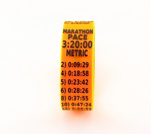 Metric Marathon Paceband 3:20 Orange/Black