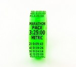 Metric Marathon Paceband 3:25 Green/Black
