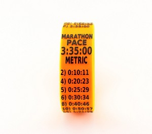 Metric Marathon Paceband 3:35 Orange/Black