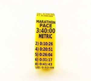 Metric Marathon Paceband 3:40 Yellow/Black