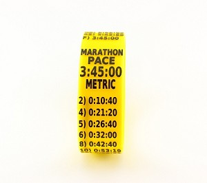 Metric Marathon Paceband 3:45 Yellow/Black
