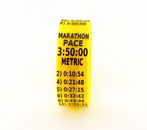 Metric Marathon Paceband 3:50 Yellow/Black