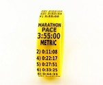Metric Marathon Paceband 3:55 Yellow/Black