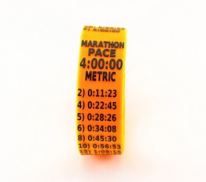 Metric Marathon Paceband 4:00 Orange/Black