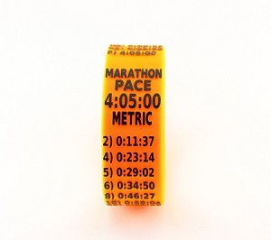 Metric Marathon Paceband 4:05 Orange/Black