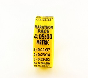 Metric Marathon Paceband 4:05 Yellow/Black
