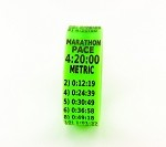 Metric Marathon Paceband 4:25 Green/Black