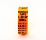 Metric Marathon Paceband 4:20 Orange/Black