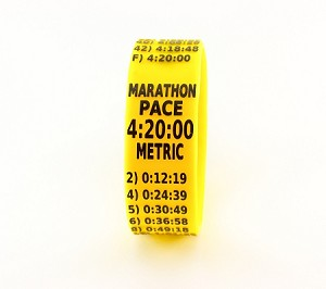 Metric Marathon Paceband 4:25 Yellow/Black
