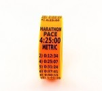 Metric Marathon Paceband 4:25 Orange/Black